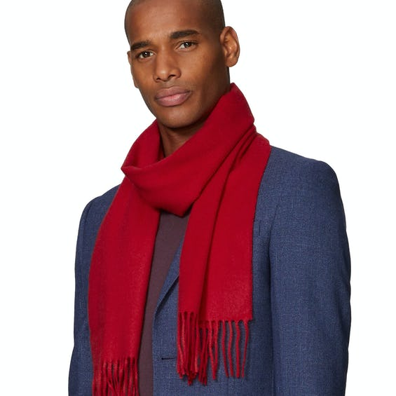 Red Pure Cashmere Scarf 0