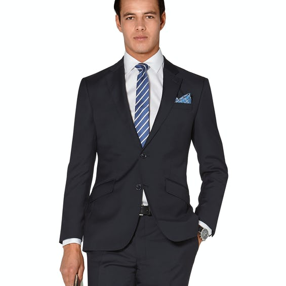 Hornsby Slim Fit Navy Twill Wool Jacket 0