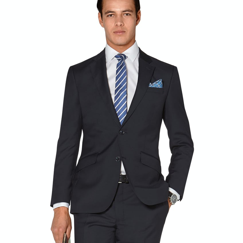 Hornsby Slim Fit Navy Twill Wool Jacket