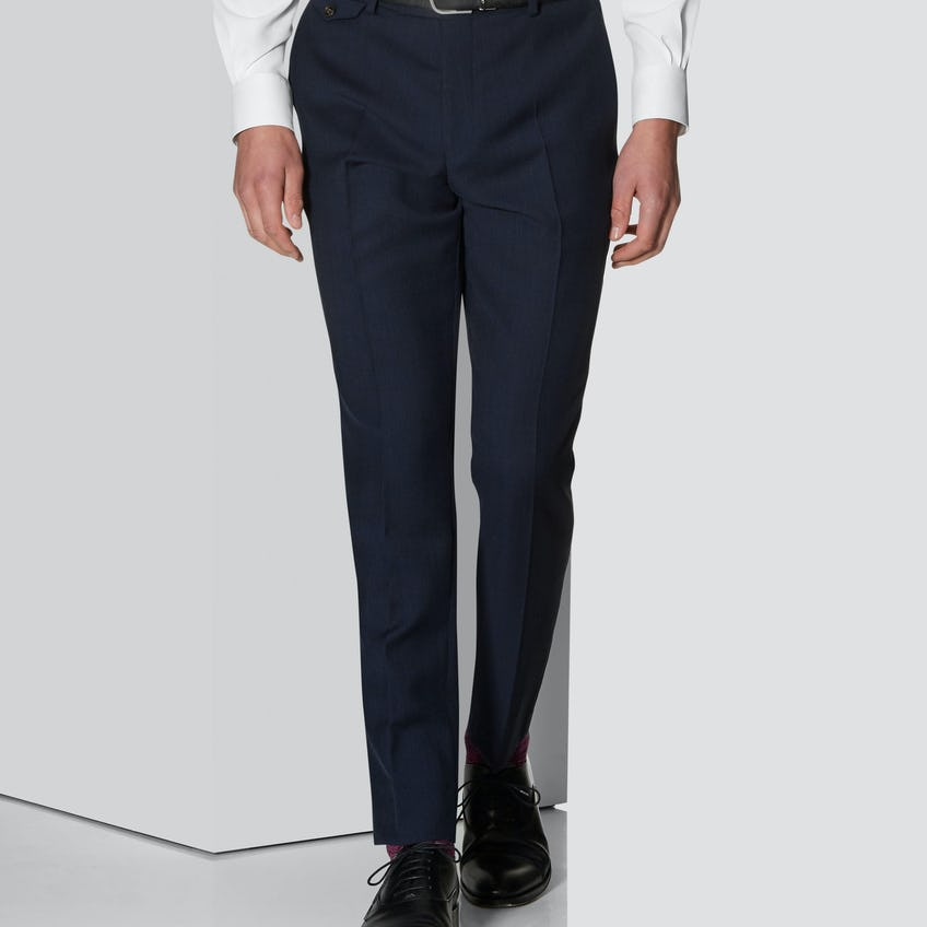 Cannavaro Trouser in Navy Pure Wool