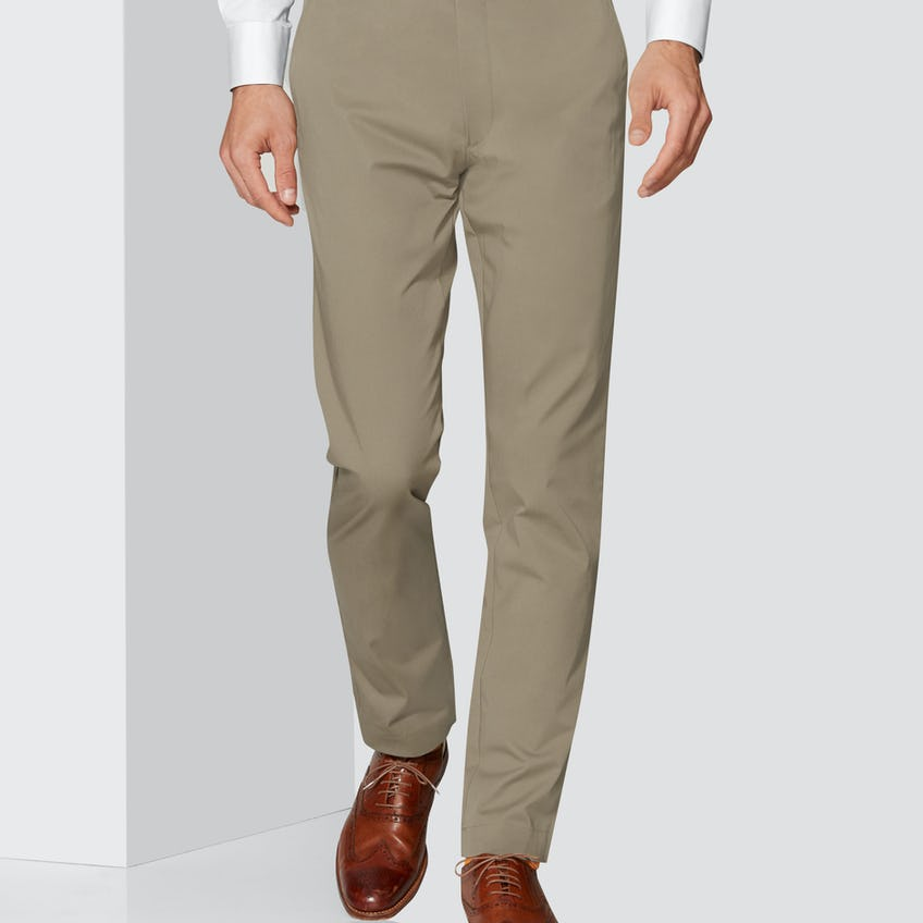 Radcliffe Slim Fit Camel Cotton Stretch Chino 0