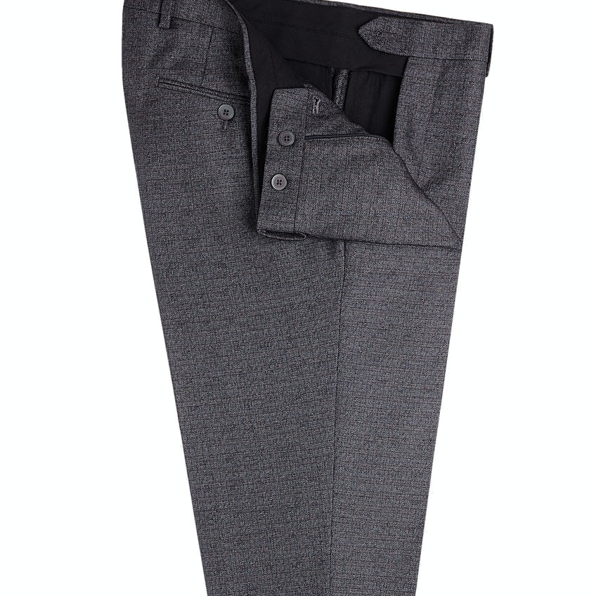 Floyd Skinny Fit Charcoal Textured Trousers 0