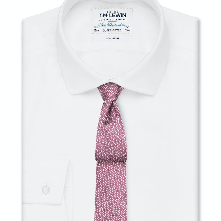 Non-Iron Super Fitted White Oxford Shirt 0