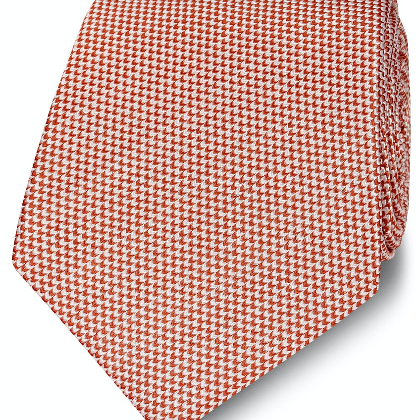 Red Micro Wave Silk Tie 0