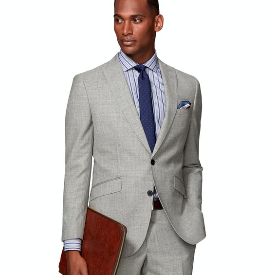 Canaletto Barberis Slim Fit Grey Suit Jacket 0