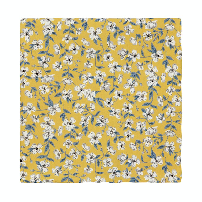 Made with Liberty Fabric Peach Yellow Pocket Square 0