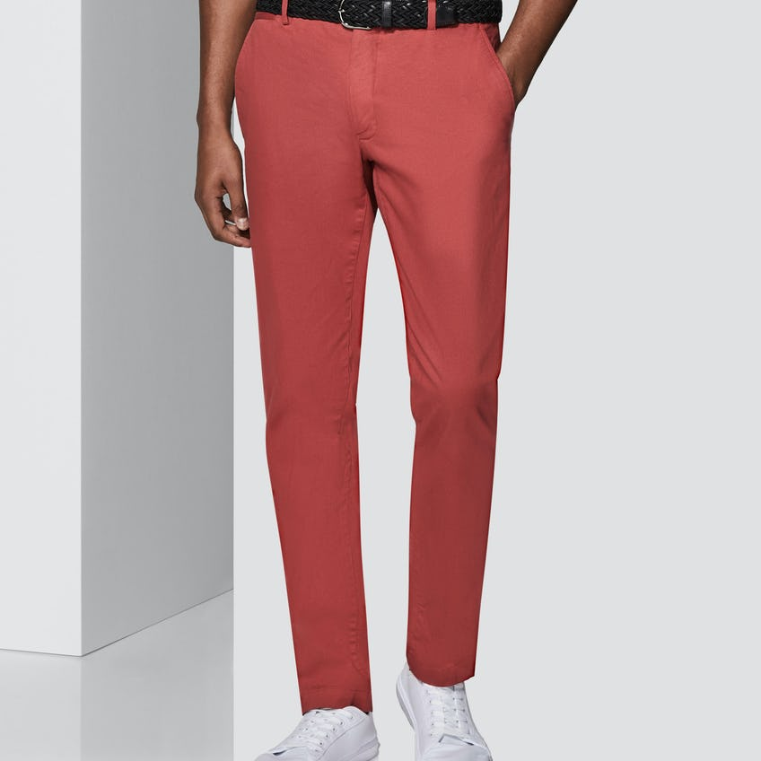 Moretti Extra Slim Fit Crimson Textured Chinos