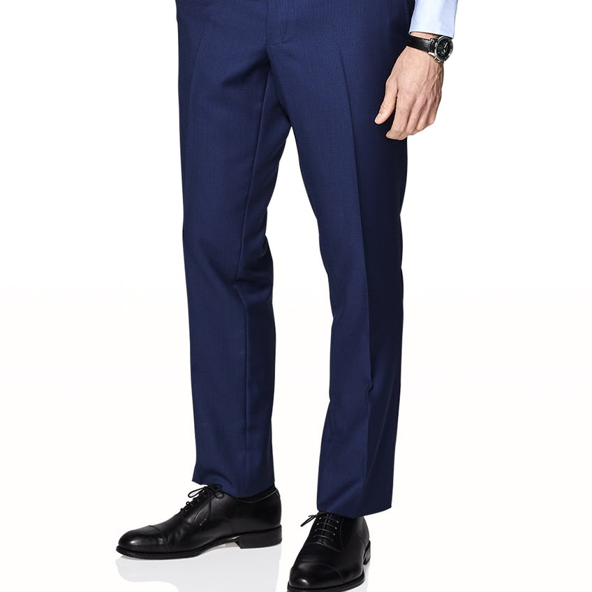 Owens Infinity Active Slim Fit Navy Blue Trousers 0