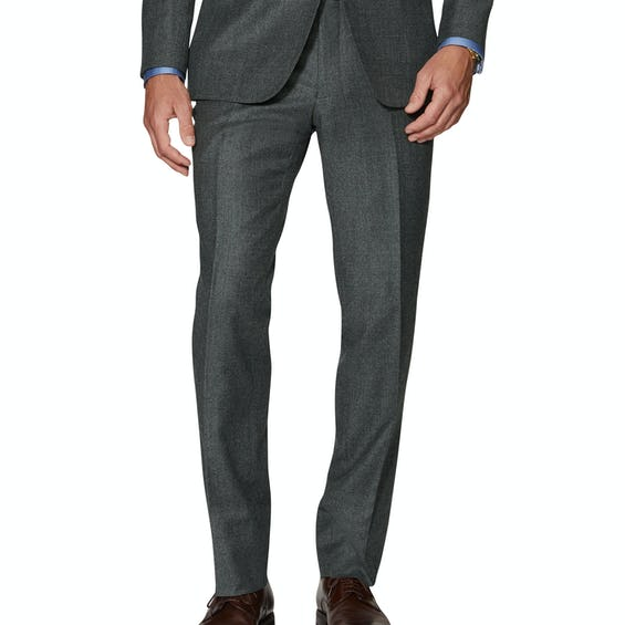 Anderson Infinity Active Slim Fit Charcoal Merino Wool Trousers 0