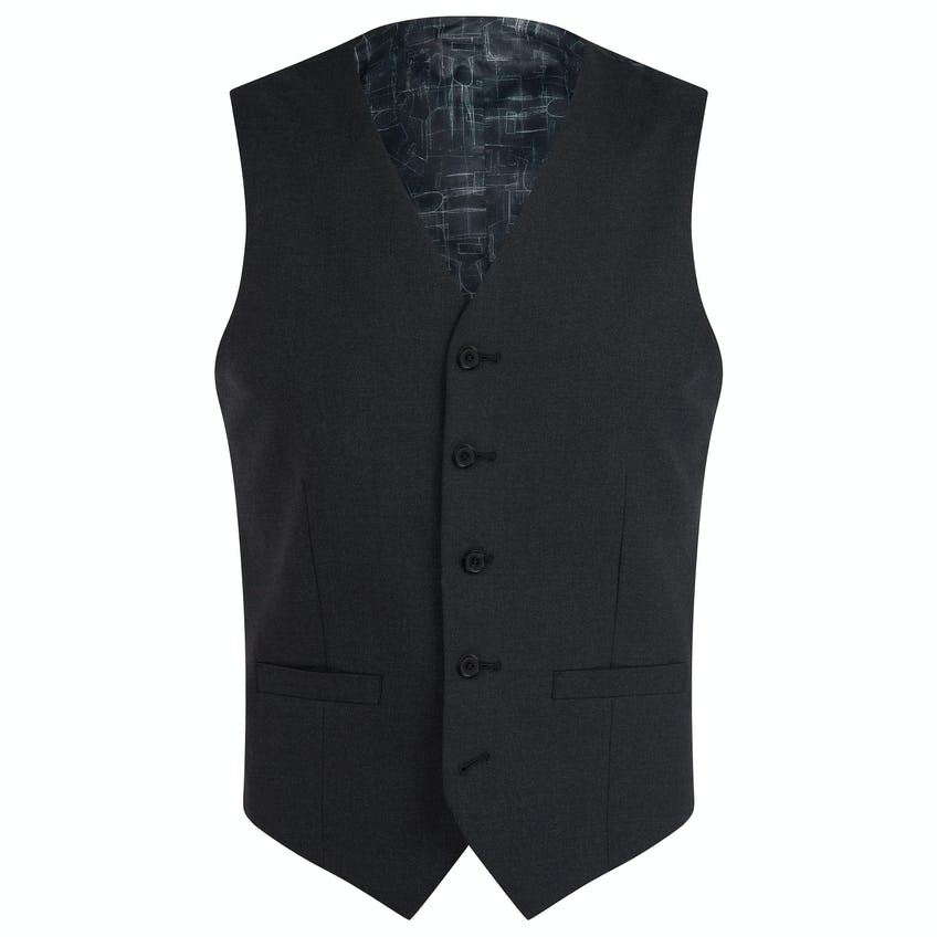 Ronnie Infinity Active Slim Fit Charcoal 3 Piece Suit 0
