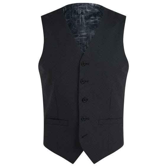 Ronnie Infinity Active Slim Fit Charcoal Waistcoat 0