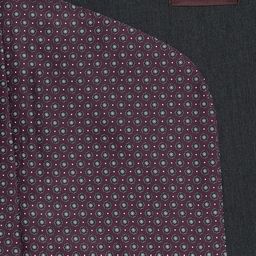 Soames Slim Fit Charcoal Twill Wool Blend3 Piece Suit 0