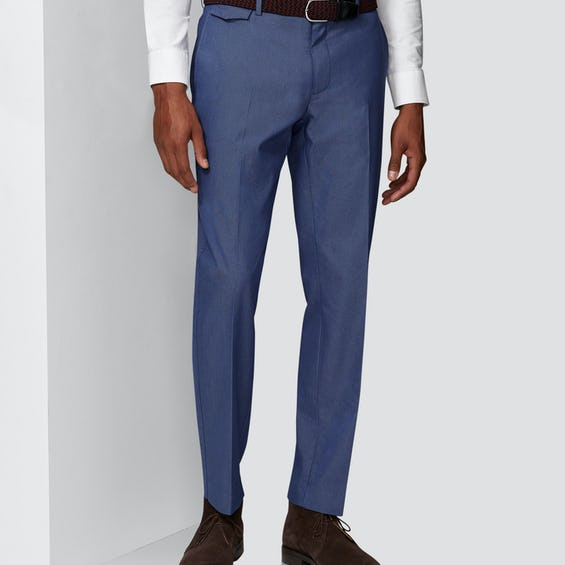 Connery Tailored Fit Mid Blue Pin Dot Chino 0