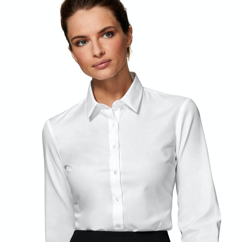 Fitted White Twill Shirt 0