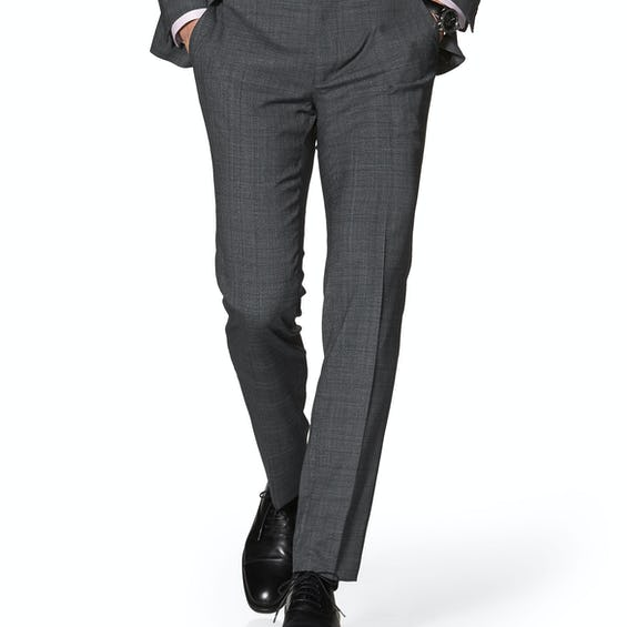 Bolan Power Stretch Skinny Fit Grey Check Trousers 0