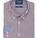Twill Slim Fit Navy and Red Gingham Shirt