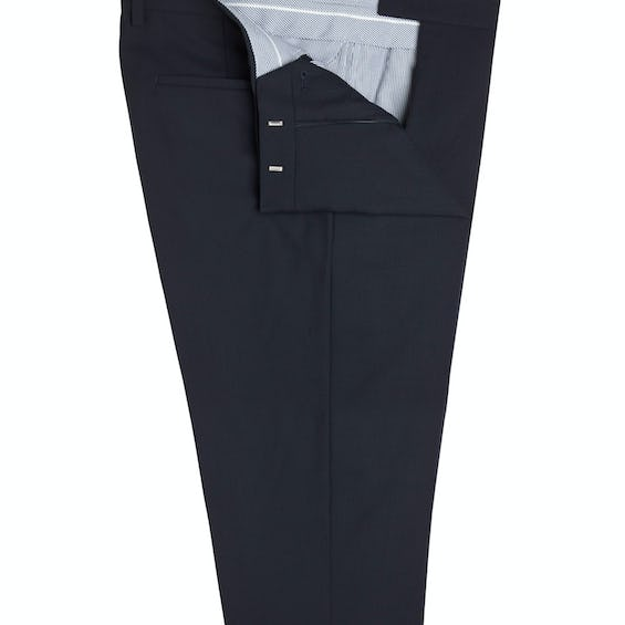 Greenwich Infinity Slim Fit Navy Trousers 0