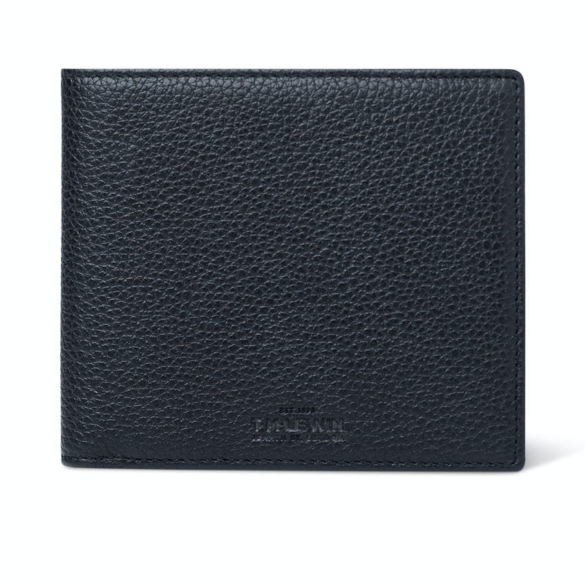 Leather Bifold Wallet Navy 0