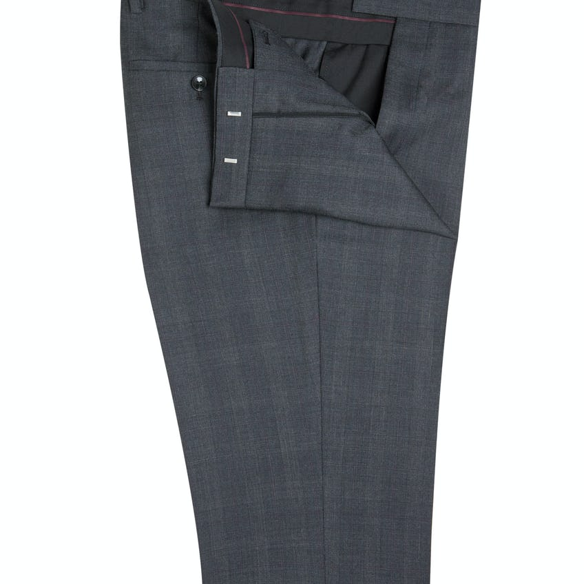 Telegraph Regular Fit Grey Prince Of Wales Trousers 0