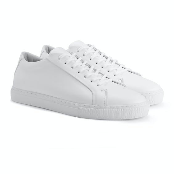 White London Leather Trainers 0