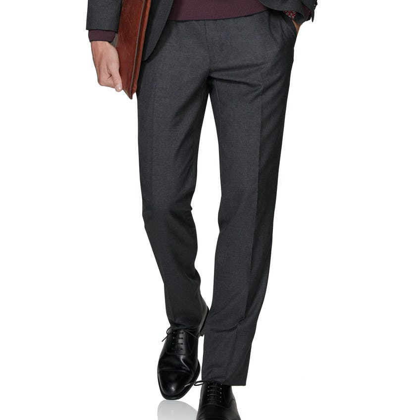 Barbican Barberis Slim Fit Charcoal Trousers