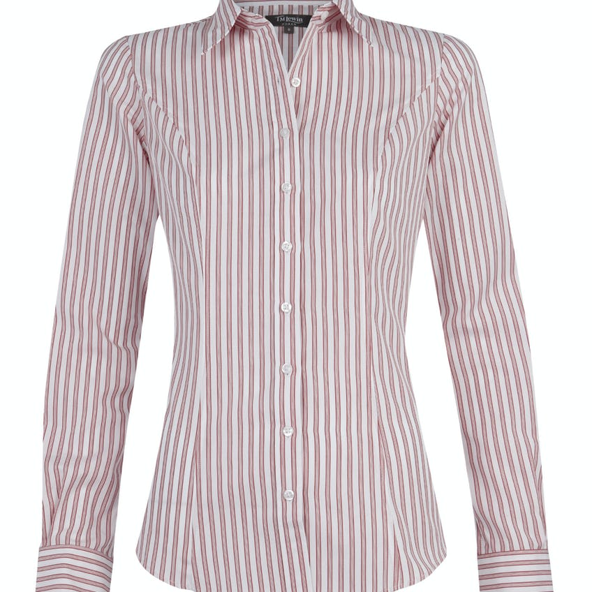 Fitted Red Stripe Shirt 0