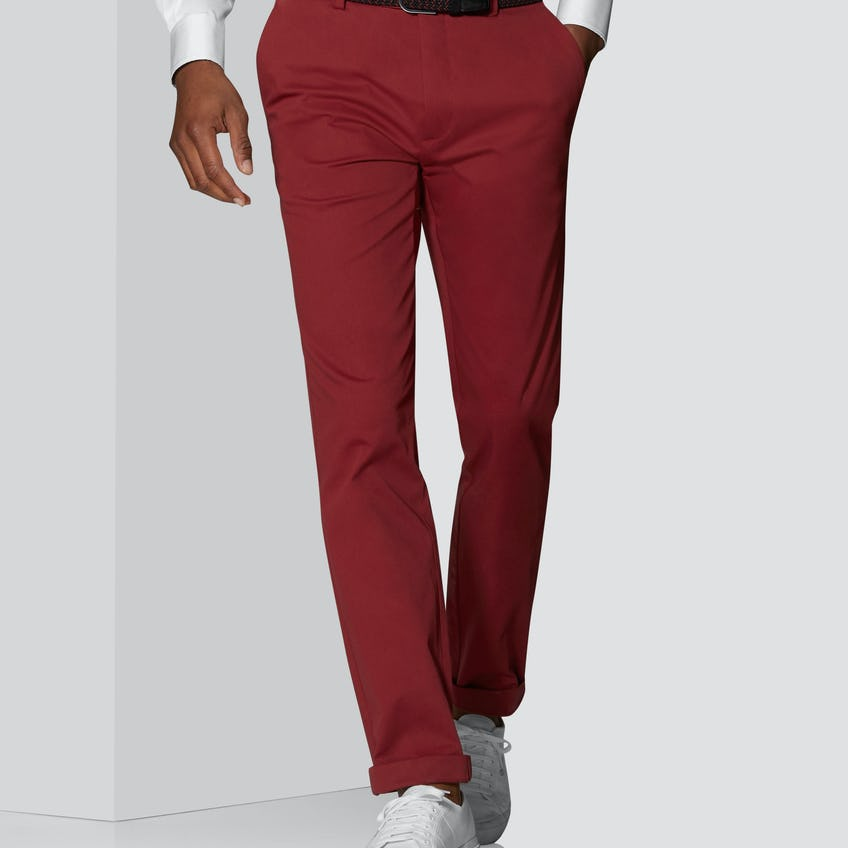 Radcliffe Slim Fit Red Cotton Stretch Chino 0
