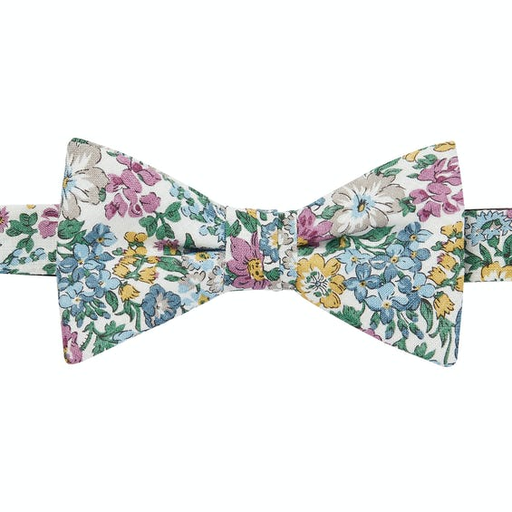Made with Liberty Fabric Honeydew Print Pre-Tied Bow Tie 0
