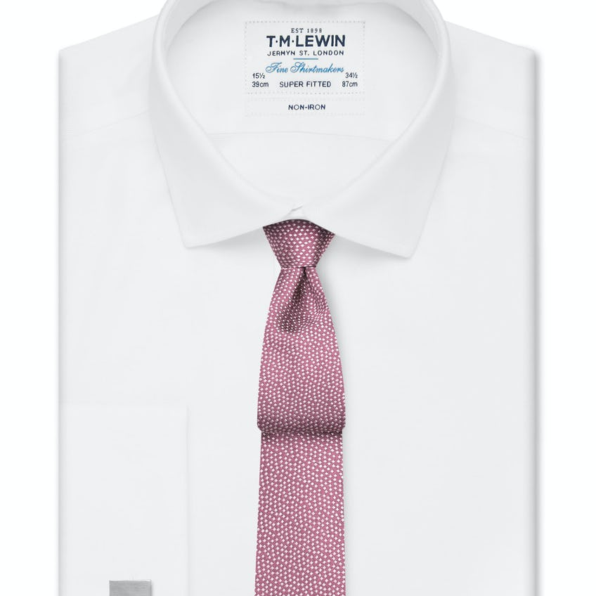Non-Iron Super Fitted White Oxford Shirt
