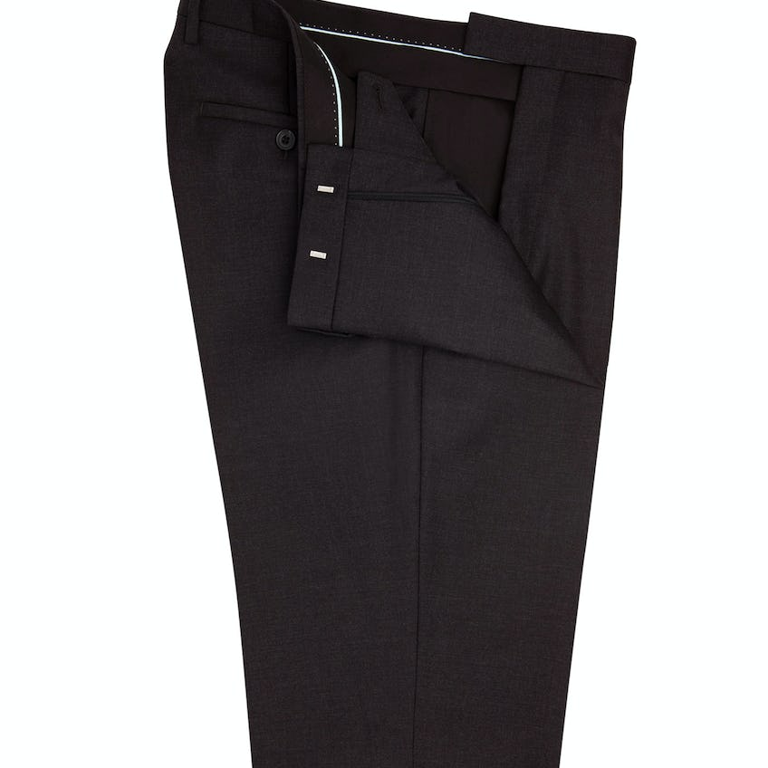 Hook Regular Fit Charcoal Twill Trousers 0