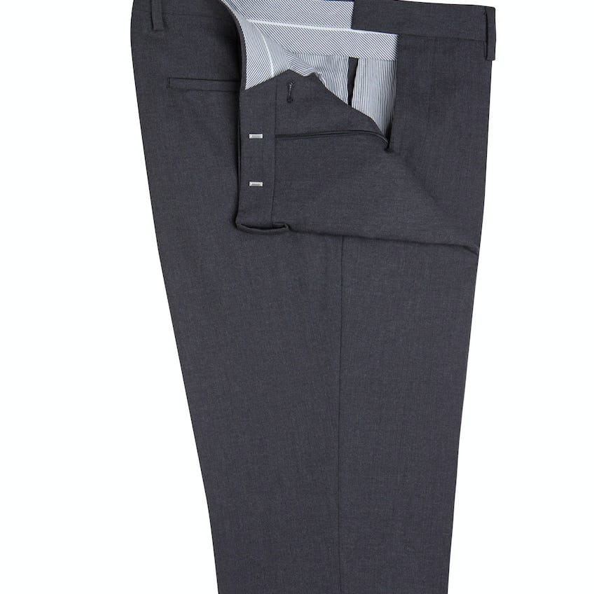 Woolwich Infinity Slim Fit Charcoal Trousers 0