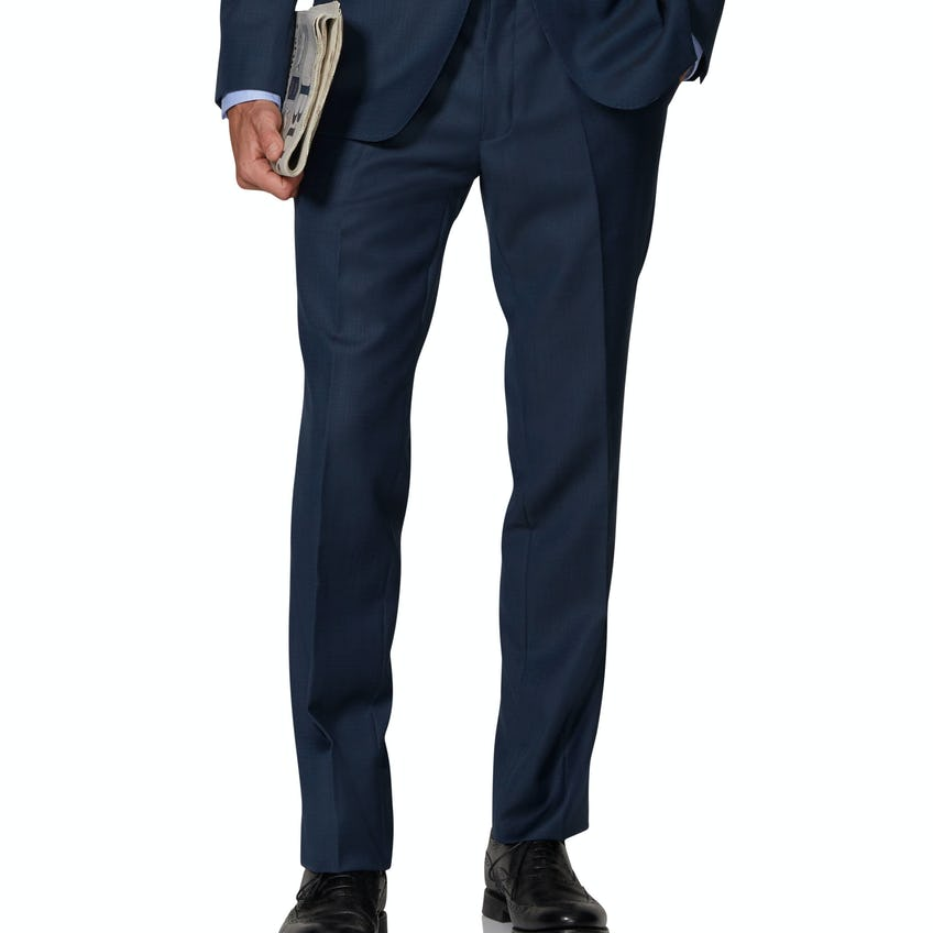 Maxwell Infinity Active Slim Fit Navy Textured Trousers 0