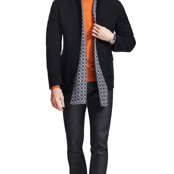 Covent Slim Fit Navy Double Faced Jacket 0