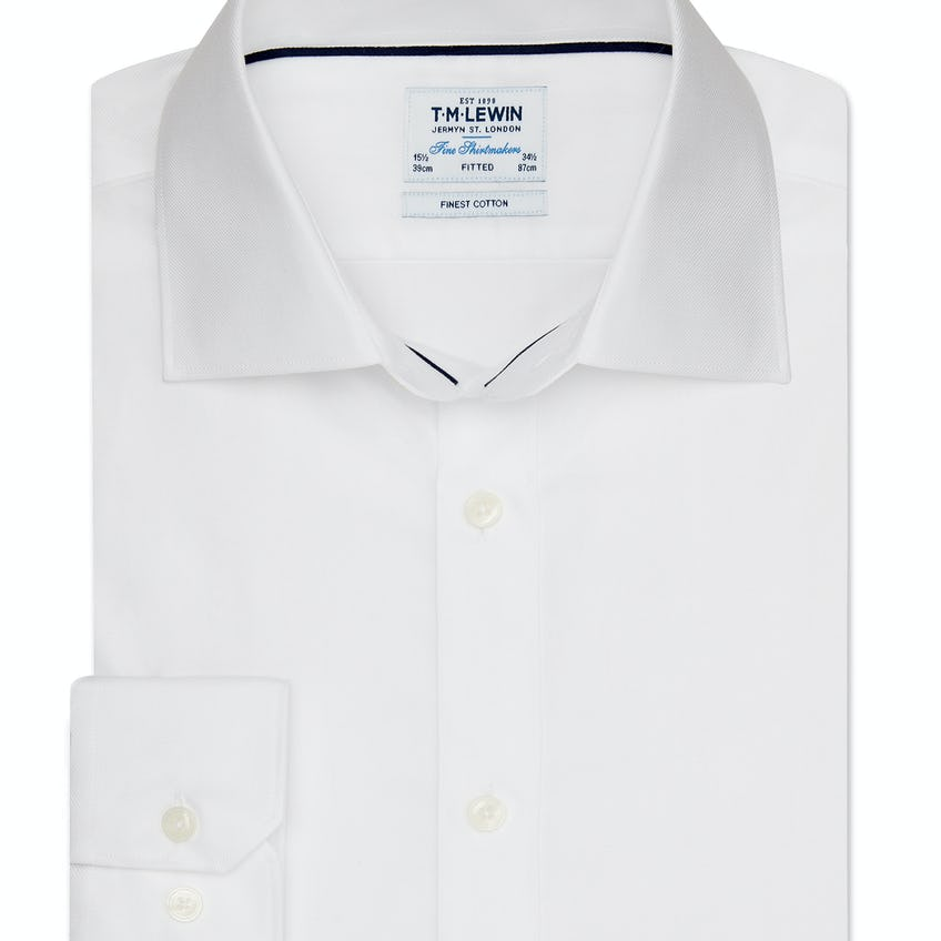 Twill Fitted White Shirt 0