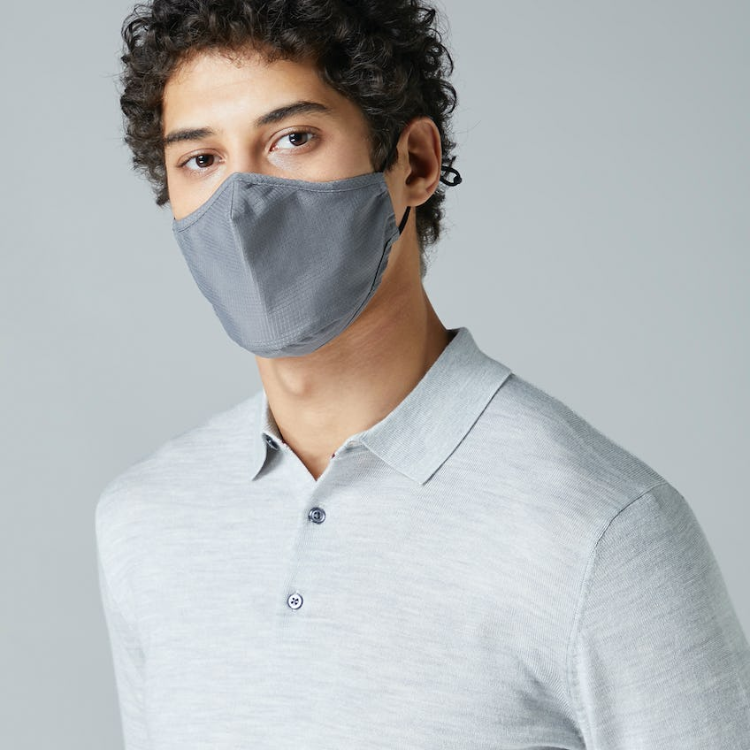 Anti-Microbial Water Repellent Grey Facemask 0