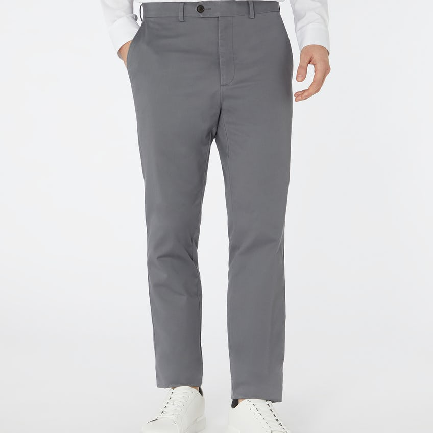 Non Iron Radcliffe Slim Fit Grey Chino