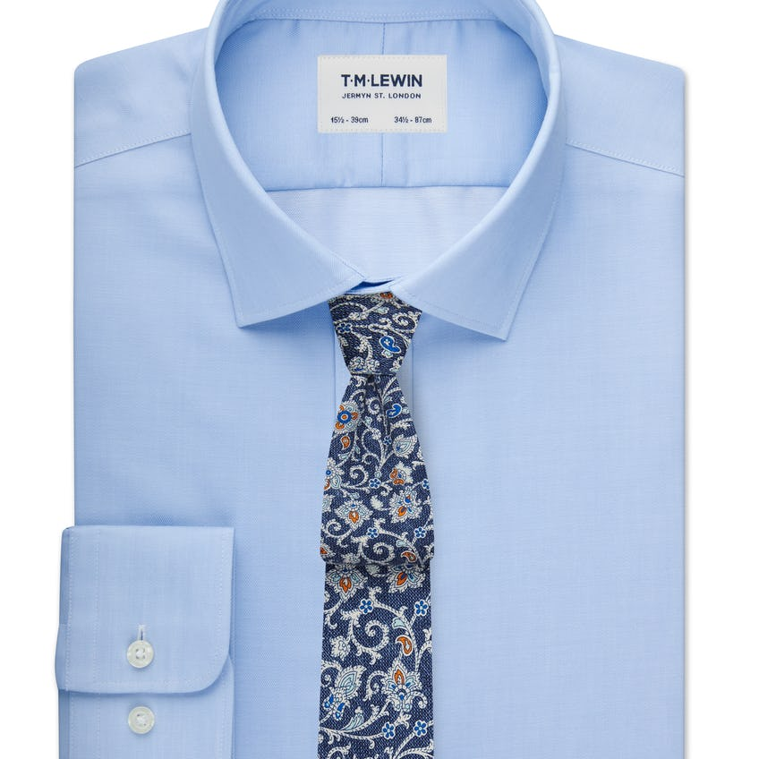Max Performance Fitted Blue Shirt 0