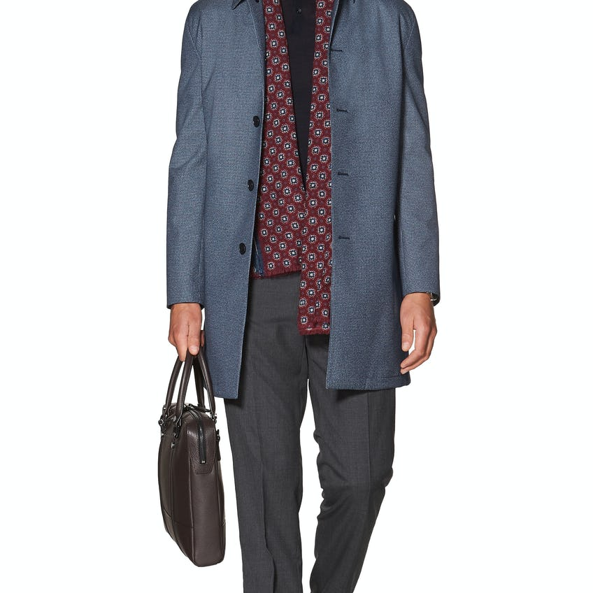 Stamford Skinny Fit Jacket in Blue Puppytooth 0