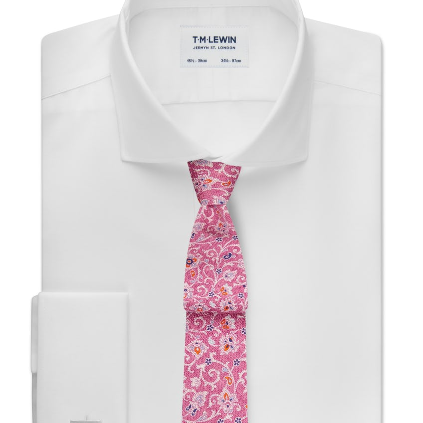 Max Performance Fitted White Double Cuff Shirt 0