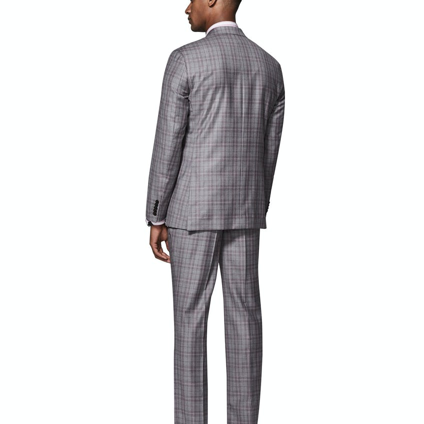 Highgrove Woven in Italy Slim Fit Grey Check 3 Piece Suit 0
