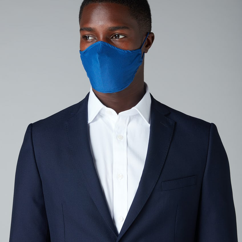 Anti-Microbial Water Repellent Navy Facemask 0