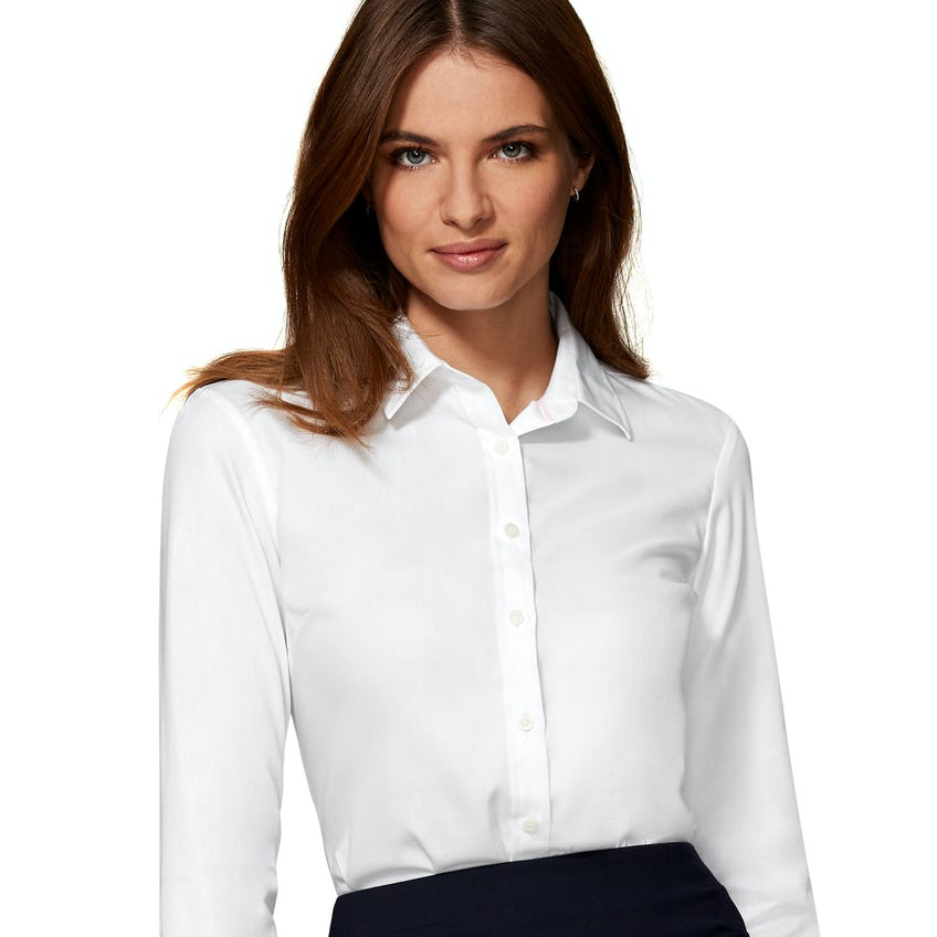 Gape Free Fitted White Shirt