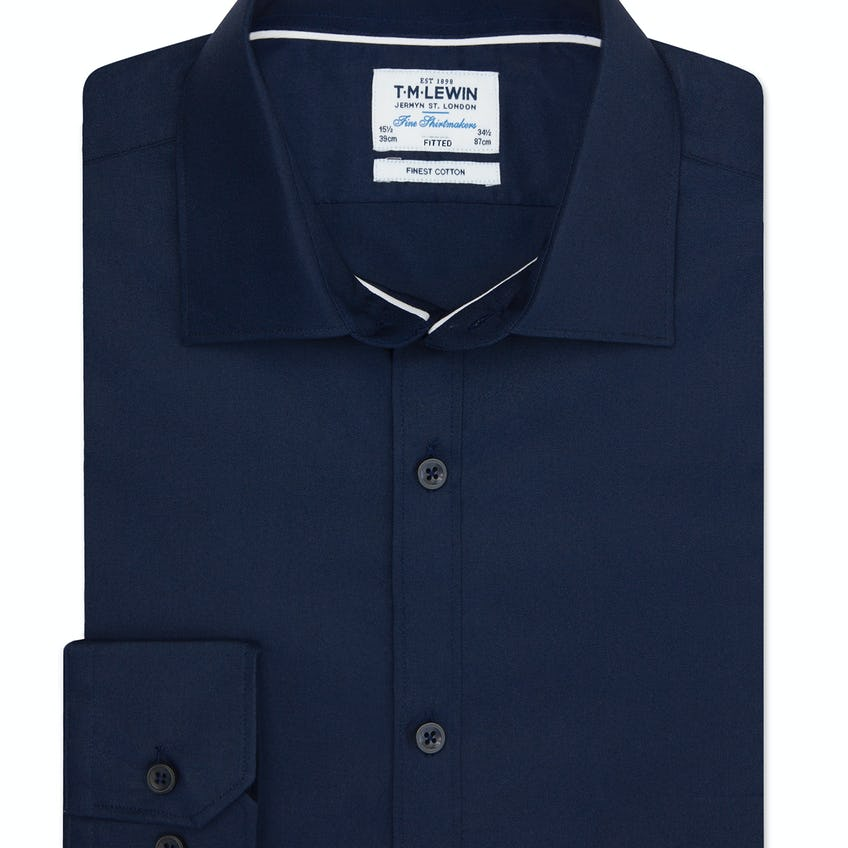Twill Fitted Navy Shirt 0