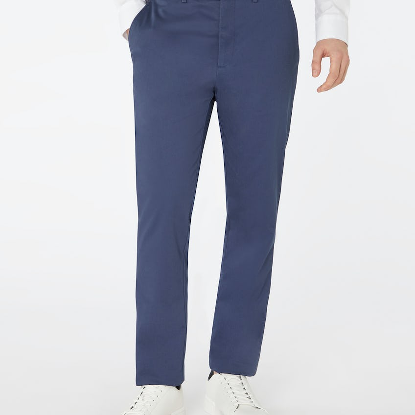 Non Iron Extra Slim Radcliffe Blue Chino