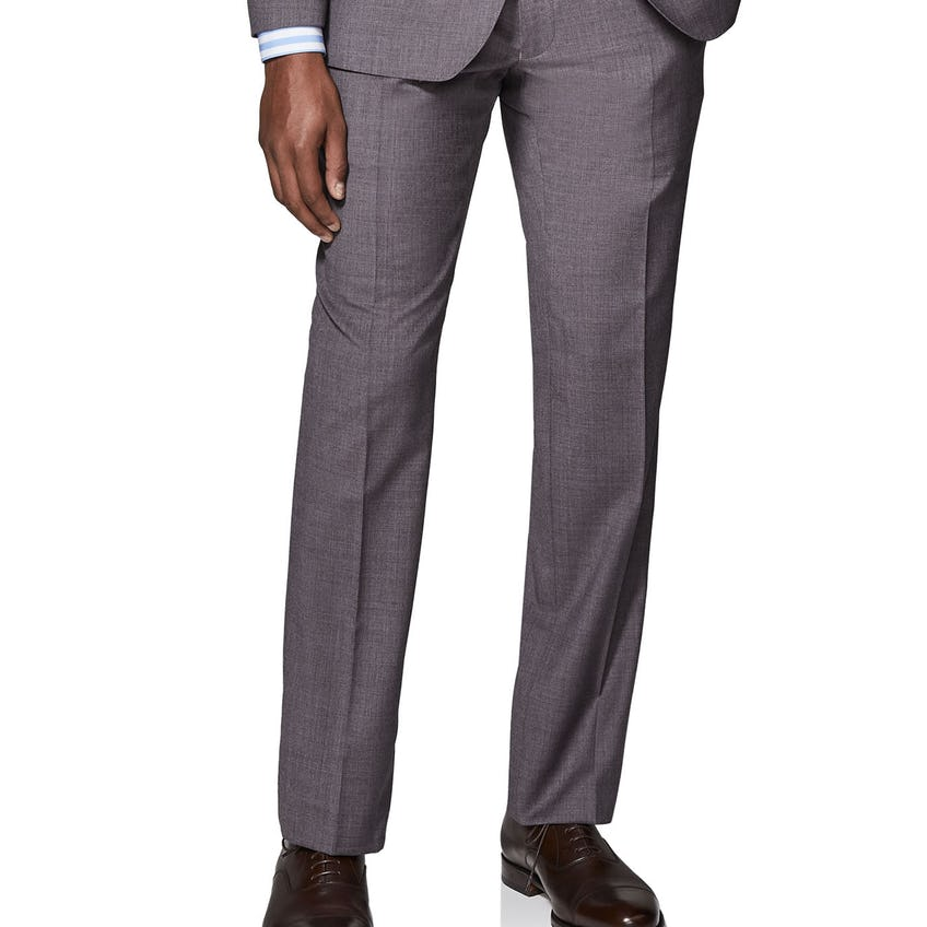 Hedsor Woven in Italy Slim Fit Burgundy Trousers 0