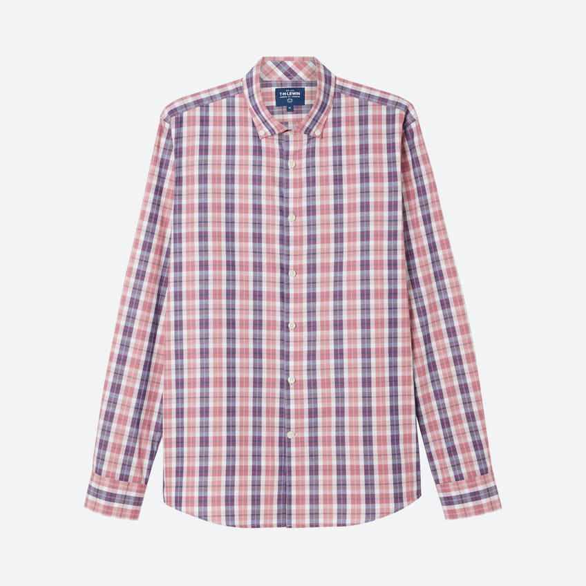 Jaspe Slim Fit Bold Check Navy Pink Shirt