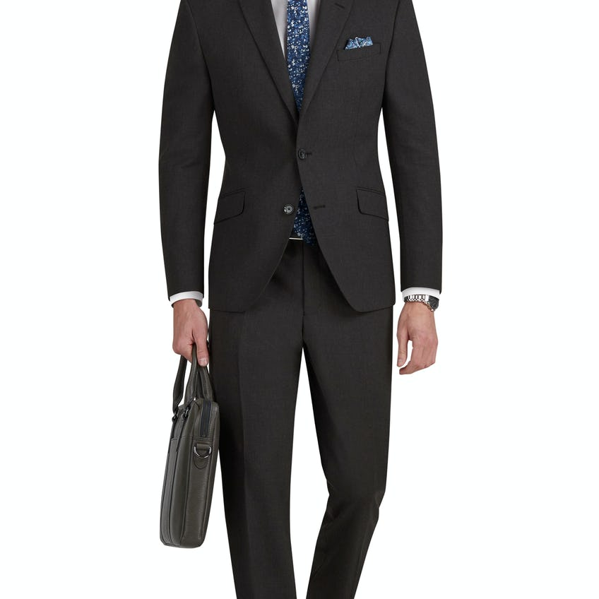 Westminster Infinity Regular Fit Charcoal Suit 0