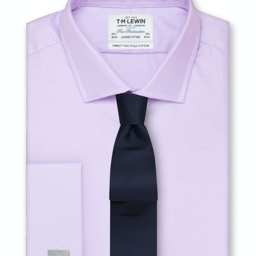 Super Fitted Lilac Oxford Double Cuff Shirt 0