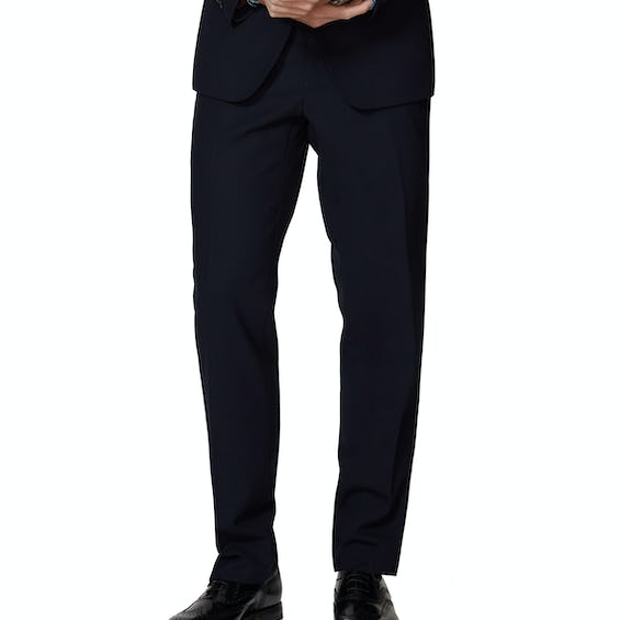 Parliament Navy Regular Fit Infinity Suit Trousers 0