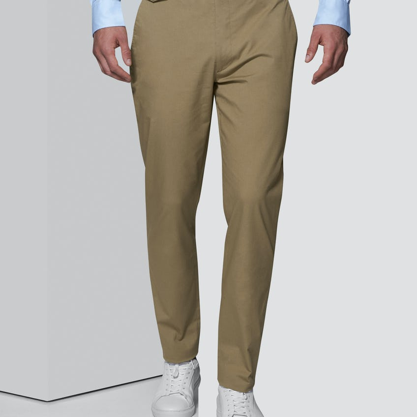Elliot Slim Fit Camel Cotton Trouser